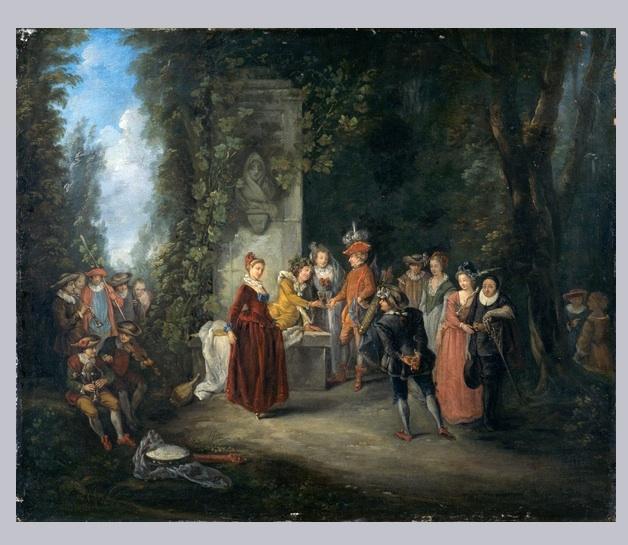 Watteau abecedario l alliance de la musique et de la com die copies - Musee des beaux arts nantes ...