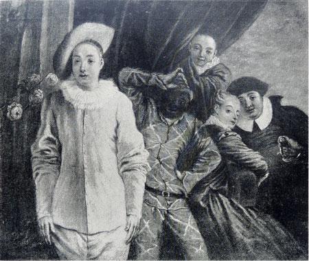 A Watteau Abecedario:Arlequin, Pierrot et Scapin Copies