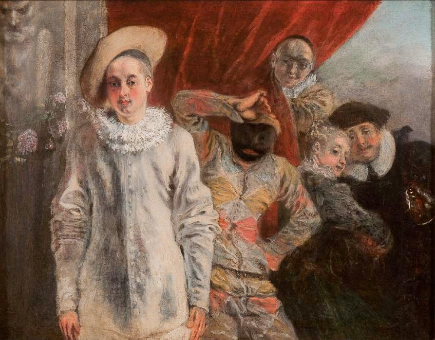 Watteau Abecedario: Arlequin, Pierrot et Scapin