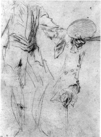 Watteau Drawing Farm in the Porcherons